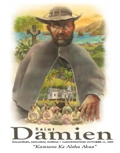 Artist Phil Sabado captured the beauty of Blessed Father Damien's life on a poster, available through our Saint Damien Scouts Website.